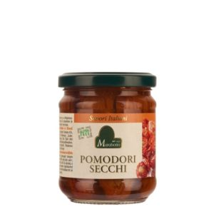 Tomates séchées dans l'huile d'olive. Origine Piémont, confectionné par Granda Tradizioni.