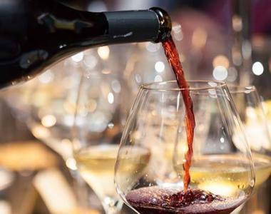 Un serveur sert du vin rouge lors d'une soirée dégustation accords mets-vins