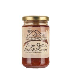 Sauce tomate à la truffe blanche pour accompagner vos plats de pâtes lors de délicieuses soirées italiennes en amis.