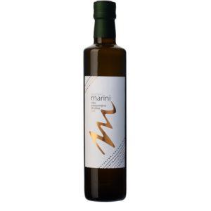 Bouteille de 50 cl d'huile d'olive extra vierge Bio. Parfaite pour assaisonner vos salades, tomates-mozzarella ou entrées froides