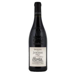 Bouteille de 75 cl de Châteauneuf-du-Pape Cuvée Chaupin 2017. Vin de Terroir puissant et corsé composé de Grenache. Idéal avec viandes rouges et gibiers.