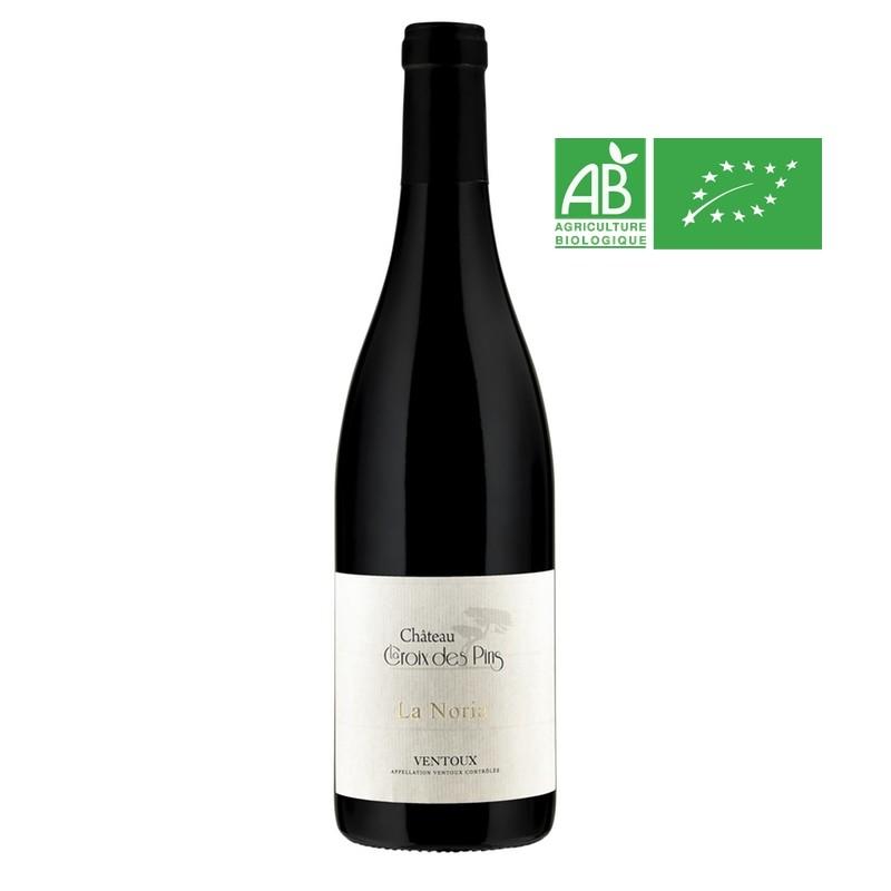 bouteille de 75 cl de La Noria 2016, Ventoux Rouge Bio, La Noria, Château La Croix des Pins