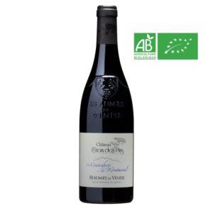 Bouteille de 75 cl de Beaumes-de-Venise 2018 Bio vin rouge fruité de la Vallée du Rhône