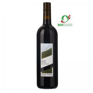 Bouteille de 75 cl de Syrah Quintessence 2018 Benoît Dorsaz. Vin de garde idéalavec Râble de lièvre, rôti de cerf.