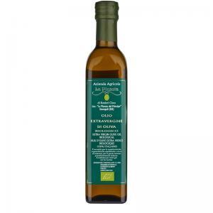 Huile d'olive Bio en bouteille de 50 cl de LA Pizzuta del Principe en Calabre.